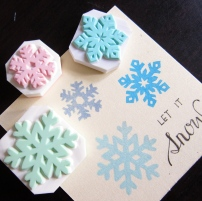 Snowflakes rubber stamps