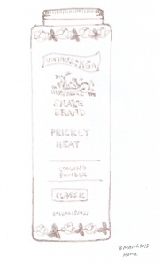 Sketch of Snake Powder Prickly Heat