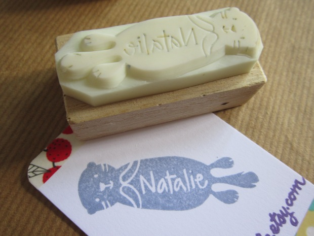 Otter stamp for my buddy Natalie