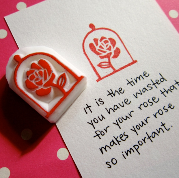 The Rose rubber stamp