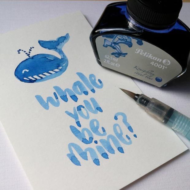 Brush lettering with Pelikan 4001