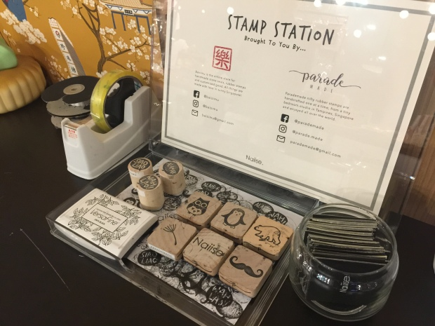 Gift wrapping station at Naiise, Central Clarke Quay